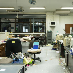Office Cleaning North West | SMClean NW | Untidy office